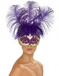 Aikuisten violetti venetsialaissilmikko höyhenillä