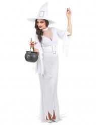 Valkoinen kuiskaus - Naisten Halloween-noidan asu