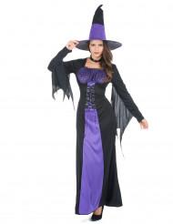 Violetti loitsu - Naisten Halloween-noidan asu