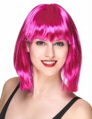 Otsatukallinen fuksianpunainen peruukki naisille