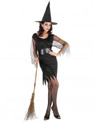 Musta kauhu - Naisten Halloween-noidan asu