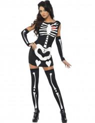 Naisten seksikäs luurankoasu Halloween