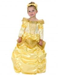 Kullanvärinen prinsessan naamiaisasu lapsille