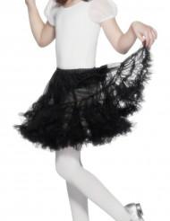 Lasten läpinäkyvä musta alushame