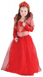 Punainen kuningatar-asu tytölle
