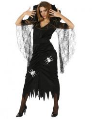 Hämähäkkikuningatar Halloween-asu naisille
