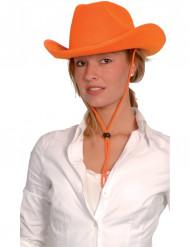 Oranssi cowboy-hattu aikuisille