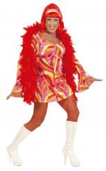 Miesten naamiaisasu Disco Drag Queen oranssi