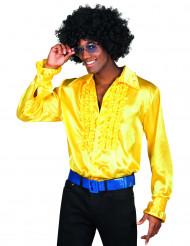 Miehen keltainen discopaita
