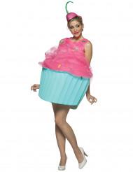 Naisten naamiaisasu Cupcake