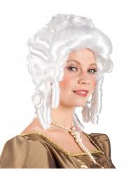 Barokkityylinen valkoinen peruukki aikuisille