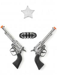 Lasten muovinen pistoolisetti - 2 kpl