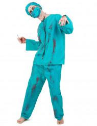 Aikuisten Halloween zombikirurgi-asu