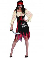 Naisten zombi/merirosvoasu