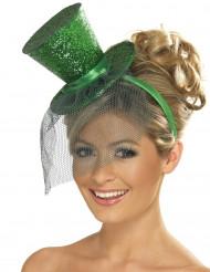 Naisten panta minikokoisella vihreällä silinterihatulla