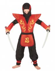 Puna-musta ninjan naamiaisasu lapselle
