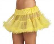 Naisten keltainen tyllialushame