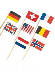 Cocktailtikut valtioiden lipuilla