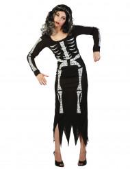Naisten Halloween pitkä luurankoasu
