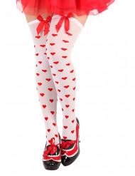 Sydänkuvioiset pitkät sukat