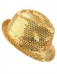 Aikuisten hattu kultaisilla paljeteilla