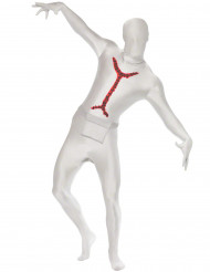 Ruumiinavatun ruumiin valkoinen haalari aikuiselle