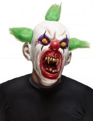 Kammottavan klovnin naamari pelottavalla suulla aikuisille - Halloween