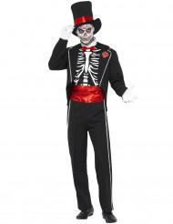 Miesten Halloween luuranko herrasmies naamiaispuku