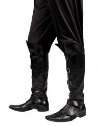 Mustat kengänpäälliset saappaat