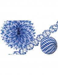 Sinivalkoiset koristeet