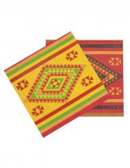 Meksiko-teemaiset paperilautasliinat 33 x 33 cm - 12 kpl