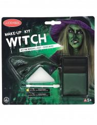 Aikuisten Halloween-maskeeraussetti - noita