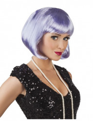 Naisten siniharmaa peruukki