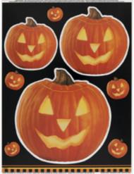 Kurpitsa Halloween ikkunatarrat