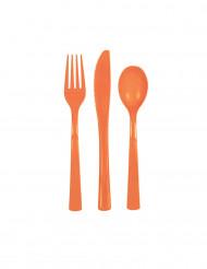 Oranssi ruokailuvälinesetti