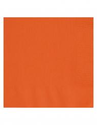 20 oranssia Halloween-servettiä