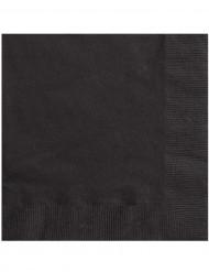 20 mustaa servettiä