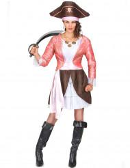 Piraatti Pinkissä - aikuisen naamiaisasu