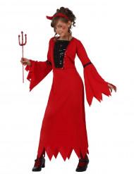 Paholaisen mekko tytölle halloweeniin