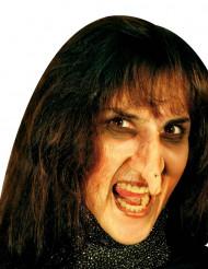 Aikuisten Halloween-maskeerauspakkaus - sis. lateksisen noidan nenän