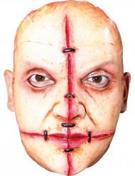 Aikuisten Halloween-naamio - ompeleilla parsitut murhaajan kasvot