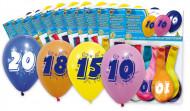 Ilmapallot 30-vuotissynttäreille 8 kpl