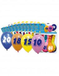 Värikkäät ilmapallot 50 v, 8 kpl