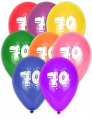 Värikkäät ilmapallot 70 v, 10 kpl