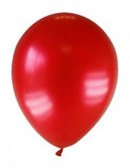 12 tummanpunaista ilmapalloa
