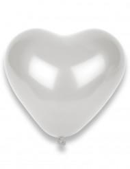 Valkoinen sydän ilmapallo