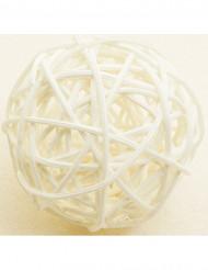 6 Valkoista pajupalloa 3,5 cm