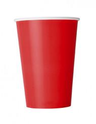 Punaiset pahvimukit 10 kpl 355 ml