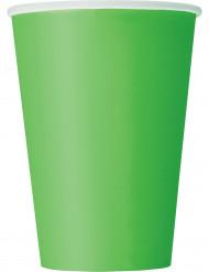 Limevihreät kartonkimukit - 10 kpl