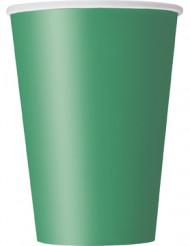 Smaragdinvihreät kartonkimukit - 10 kpl